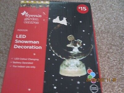AU18.37 • Buy Led Snowman Christmas Ornament New/boxed Unwanted Gift
