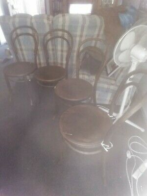 AU275 • Buy Old Vintage Antique Bentwood Chairs X4
