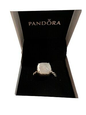 AU39 • Buy PANDORA Mother Of Pearl Twisted Ring Size 58