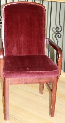 AU9.95 • Buy Dining Chairs Timber & Velvet - 6 Plain + 2 With Armrests