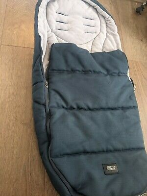£20 • Buy Mama And Papas Cold Weather Plus Footmuff Deep Ocean Blue Fits Armadillo Ocarro