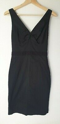 £8 • Buy Black Cotton Bustier Semi-fitted Dress. Size 10, By NOUGAT