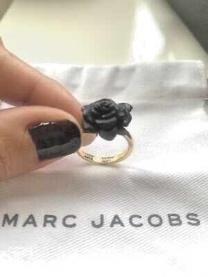 £25.38 • Buy Marc Jacobs Gold And Black Resin Rose Ring