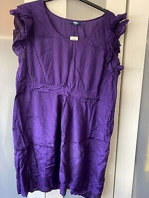 AU18.39 • Buy BNWT Purple Party Summer Dress With Ruffle Short Sleeve Size 22 From ASOS