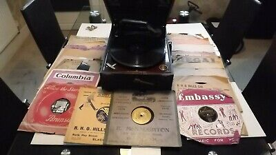 £85 • Buy Antique Columbia Gramophone Model 112A Working With 78's Records