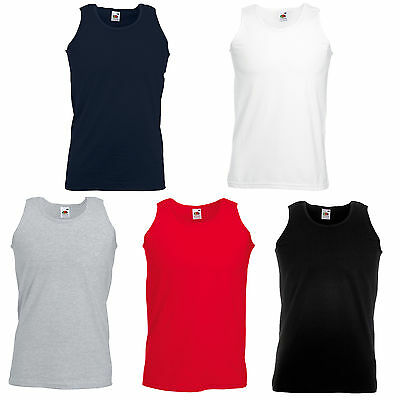 £3.49 • Buy Fruit Of The Loom Vest Tank Tops Bn 5 Colours All Sizes