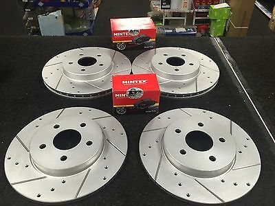 £169 • Buy Ford Mondeo 3.0v6 St220 Drilled Grooved Brake Disc Mintex Pads Front Rear