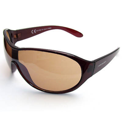 Super Dunlop Mens Sunglasses Uv400 Brown Wraparound #12 • 9.99£