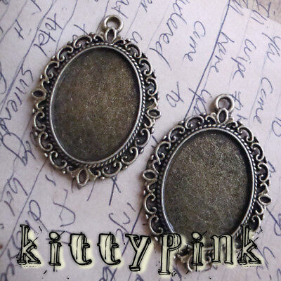 25x18mm Cameo Cabochon Settings Antique Gold Bronze  • 0.99£