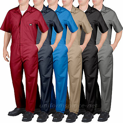$44.99 • Buy Dickies COVERALLS Mens Short Sleeve Coverall 3399/33999 Red Grey Navy Blue Khaki