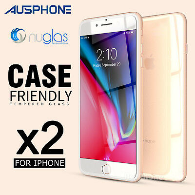 AU6.95 • Buy 2x For Apple IPhone 8 7 6s 6 GENUINE NUGLAS Tempered Glass Screen Protector