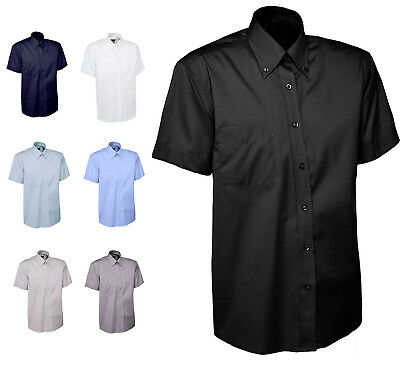 £14.95 • Buy Mens Short Sleeve Oxford Formal Shirt Size S To 3XL - OFFICE CASUAL & BUSINESS