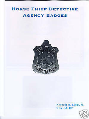 £14.49 • Buy HORSE THIEF DETECTIVE ASSOCIATION BADGES By Lucas