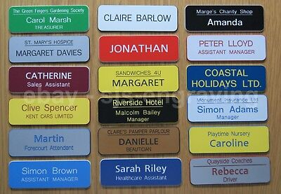 £1.10 • Buy Quality Engraved Name Badges - Shops Clubs Pre-schools Care Homes Offices Etc.