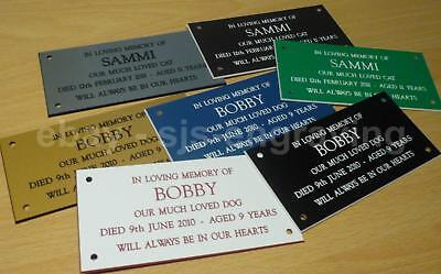 £3.95 • Buy Quality Engraved Pet Grave Memorial Plaque 100mm X 50mm -  Cat Dog Personalised
