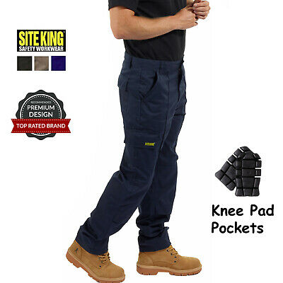 £20.95 • Buy Mens Combat Cargo Work Trousers Size 28 To 52 & Knee Pad Pockets By SITE KING 04