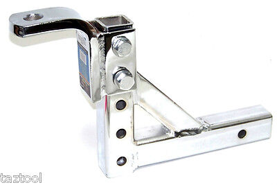 $57.99 • Buy Drop Hitch 10  Adjustable Trailer Drop Hitch Chrome  Ball Mount For 2  Receiver