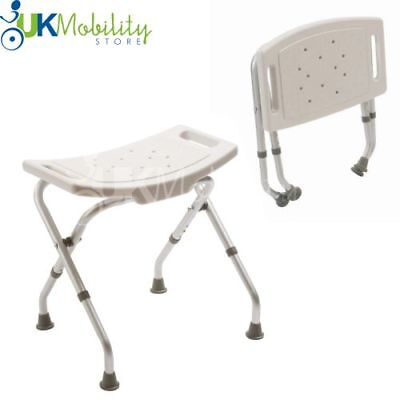 £34.99 • Buy Folding Adjustable Height Bath Shower Seat Stool Bench Mobility Disability Aid