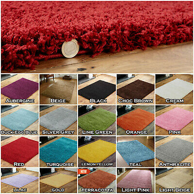 Living Room Thick Shaggy Rugs Large Hallway Runner Rug Non Slip Carpet Low Cost • 14.49£