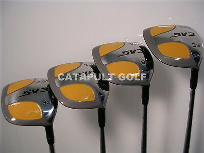 AU230.32 • Buy New Yellow Square 3 5 7 9 Clubs Fairway Wood Set Golf Club Graphite Shafts Woods