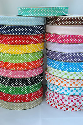 Spotty Spot Polka Dot Cotton Bias Binding Tape By Metre 18mm Sewing Crafts • 1.50£