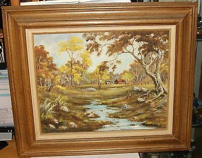 $ CDN376.96 • Buy Esther Spradling Original Oil On Canvas Topeka Kansas Farm Painting