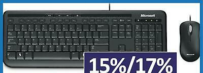 AU36 • Buy Microsoft Wired Desktop 600 Keyboard And Mouse Combo USB Membrane Standard