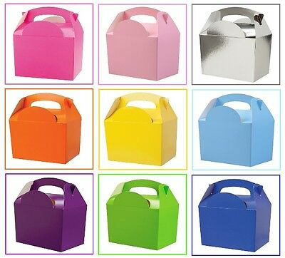 £7.90 • Buy Childrens Kids Colour Birthday Wedding Party Meal Lunch Food Gift Loot Bag Box