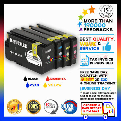 AU23 • Buy 4x NoN-OEM Ink Cartridge 950XL 951XL 950 951 XL For HP Officejet Pro N811 8600