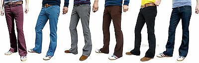 £37.90 • Buy Boot Cut Mens Cords Bootcut Hippy 60s 70s Jeans Retro Vtg Indie Flares Trousers