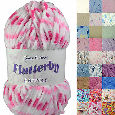 James C Brett Flutterby Chunky Knitting Wool Yarn 100g • 3.55£