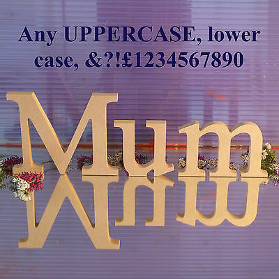 £5.13 • Buy Freestanding Wooden Letters MDF - Unpainted - 150 Mm 15 Cm High 18 Mm Thick
