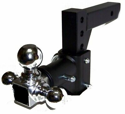 H D Tri-ball Swivel Adjustable Trailer Tow Drop Hitch Ball Mount   2  Receiver   • 139.99$