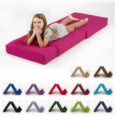 £39.97 • Buy Single Fold Out Block Foam Z Bed Sofabed Guest Chair Bed Folding Mattress Futon