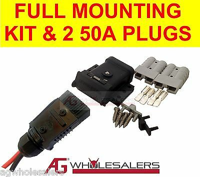 AU39 • Buy Anderson Plug 50a Mounting Kit & Lead End Cover Dust Cap + 2 Plugs. Dual Battery