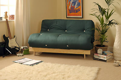 £139.99 • Buy Double 4ft Luxury Futon 2 Seater Wooden Frame Sofa Bed Mattress In 11 Colours
