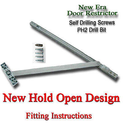 £8.99 • Buy DOOR RESTRICTOR 90 To 130 DEGREE UPVC ARM STAY HOLD OPEN DOUBLE FRENCH PATIO