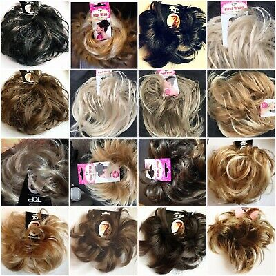£3.85 • Buy Hair Scrunchie Messy Bun Updo Wrap Hairpiece Wavy Or Curly Extension Large Small