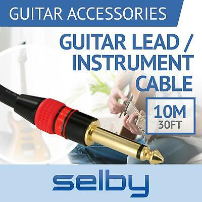 AU22 • Buy 10m 30ft Guitar Lead / Instrument Cable With 6.35mm 1/4  Jacks For Amp / Pedals