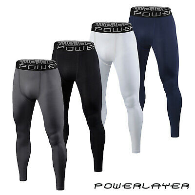 Mens Boys Compression Baselayer Running Tights Bottoms Thermal Under Gear Skins • 17.99£