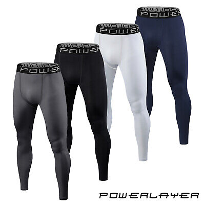 PowerLayer Mens Boys Compression Tights Base Layer Bottoms Thermal Skins • 17.99£