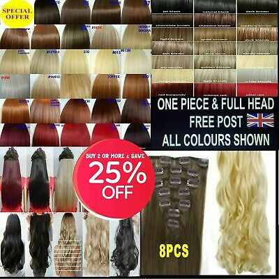 £5.55 • Buy 15  18  22  Full Head Hair Extensions & 1 Piece Clip In Hair Copper Plum Red