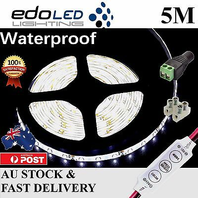 AU12.55 • Buy Waterproof 12V Cool White 5M 3528 SMD 300 LED Strips Led Strip Lights Car Boat