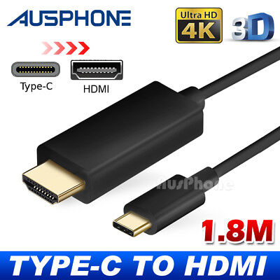 AU11.95 • Buy USB C To HDMI Cable USB 3.1 Type C Male To HDMI Male 4K Cable Macbook Chromebook