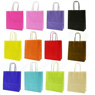 Strong Paper Party Gift Bags With Handles - Children's Birthday Party Loot Bag * • 3.45£