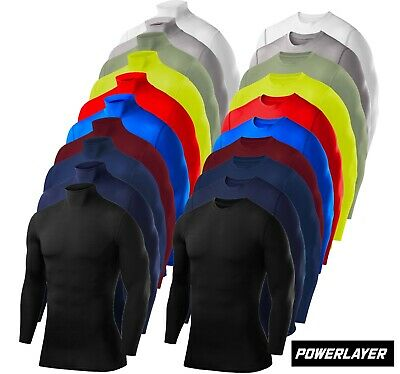 PowerLayer Mens Boys Compression Base Layer Tops, Tees & Vests Sports Running • 11.99£