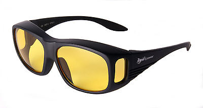 NIGHT DRIVING OVER GLASSES That Fit Over Specs: Anti Glare HD. Rapid Eyewear  • 12.99£