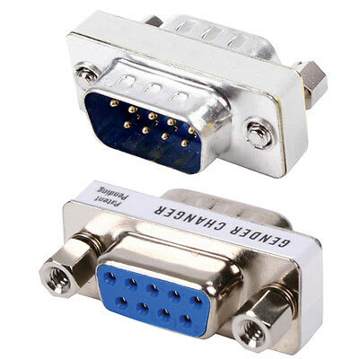£4.09 • Buy 9 Pin D-SUB RS232 Male To Female Port Protector - Computer Serial Adapter