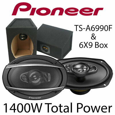 £114.99 • Buy Pioneer TS-A6990F  6  X 9  5-Way Car Speakers With 6 X 9 Box Enclosures 1400W BN