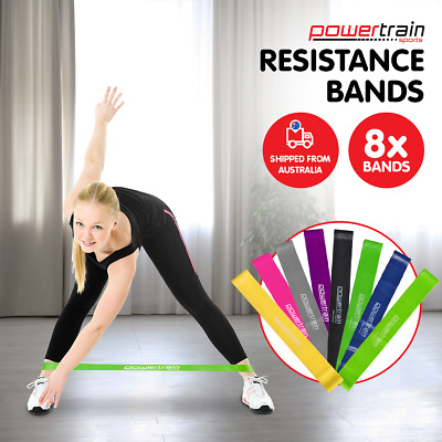 AU14.95 • Buy Yoga Resistance Band Loops Pilates Straps Home Gym Fitness Exercise Workout